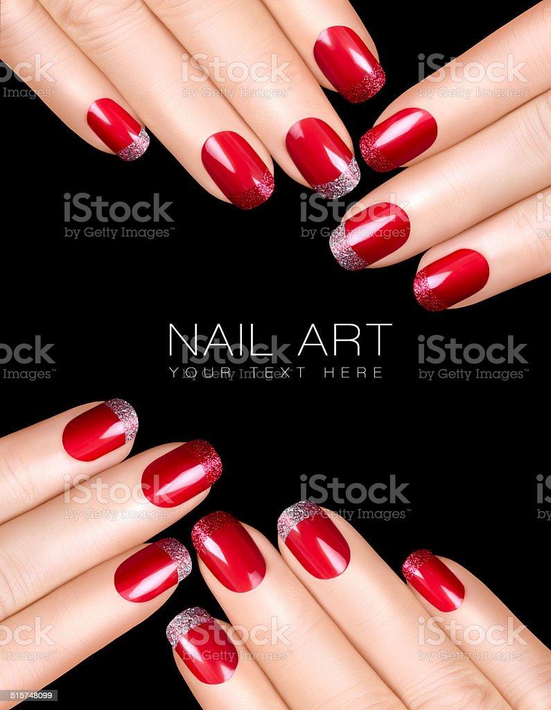 Nail Art Luxury Nail Polish Nail Stickers Stock Photo & More ...