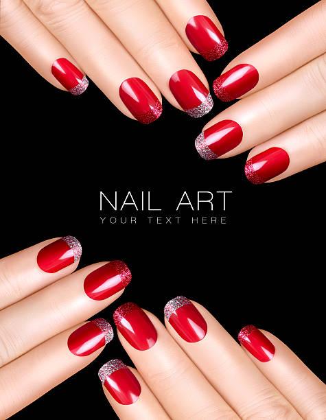 Nail Art. Luxury Nail Polish. Nail Stickers stock photo