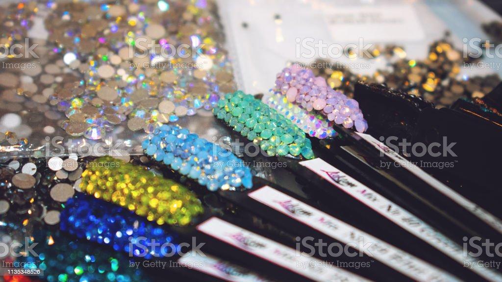 Nail Art Rhinestone Samples Color Nail Rhinestones Glitter