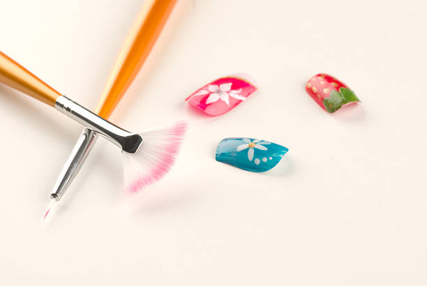 Nail art still life stock photo