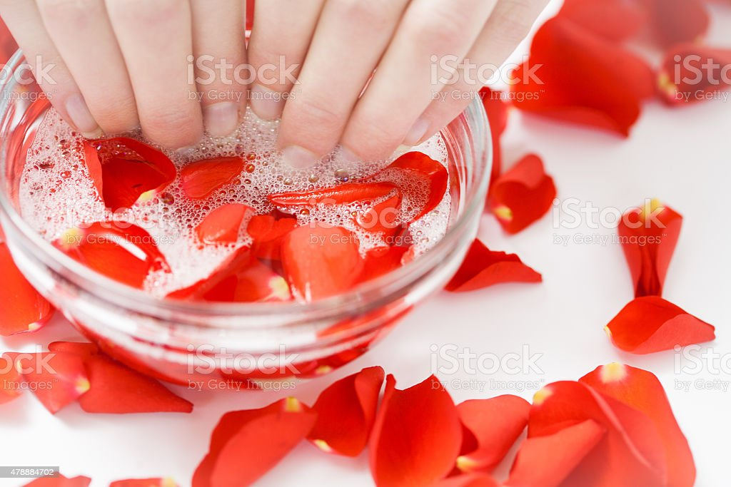 Nail Bath stock photo