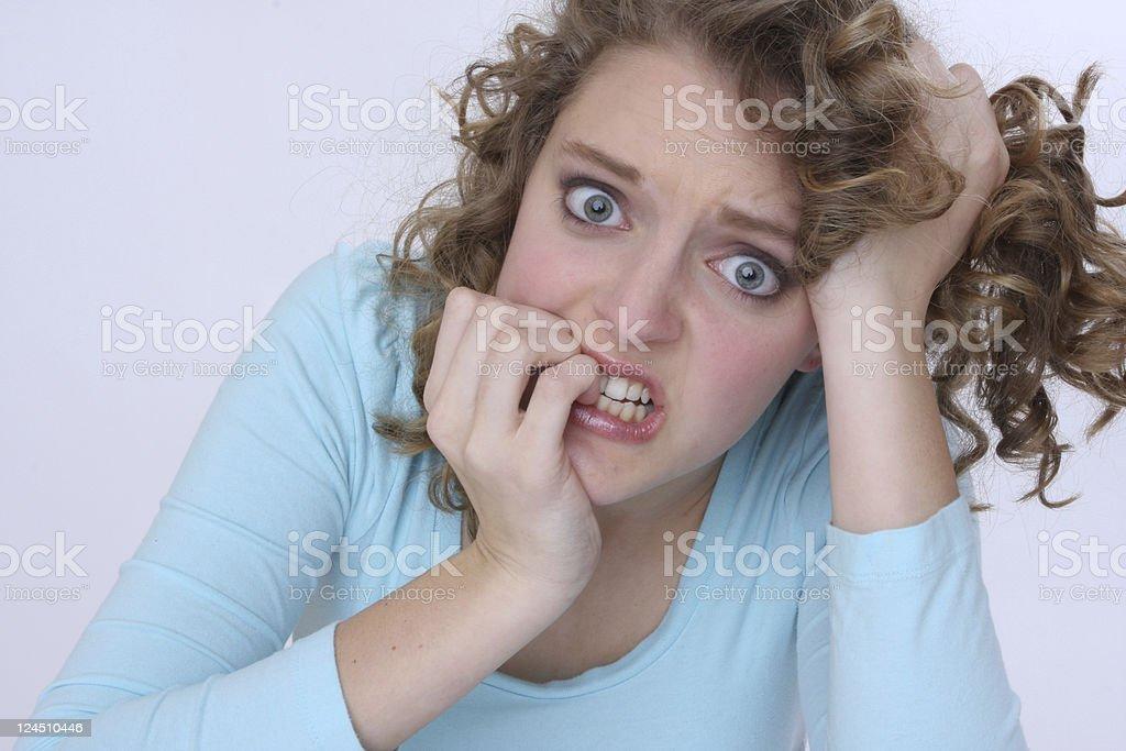 nail biting moment! royalty-free stock photo