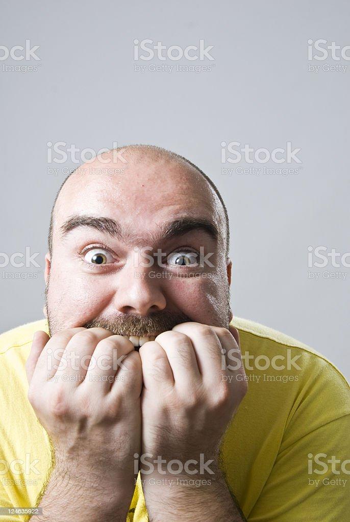 Nail biting stuff royalty-free stock photo