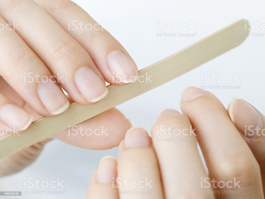 Nail care for women stock photo