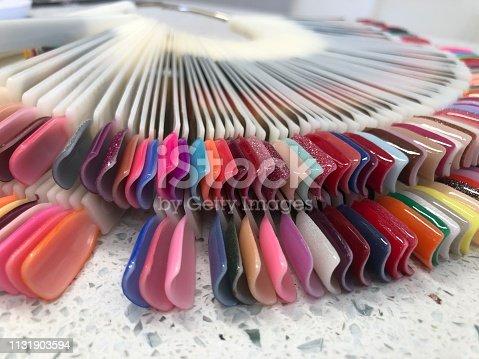 Nail color palette