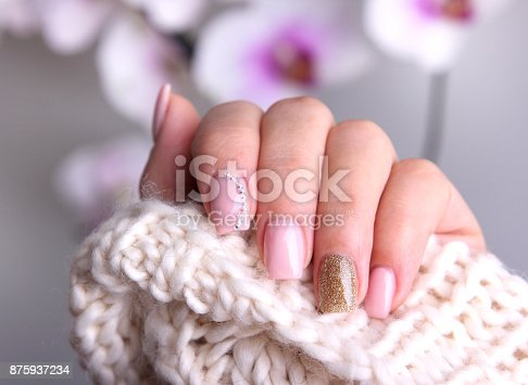 istock Nail design soft colors. 875937234