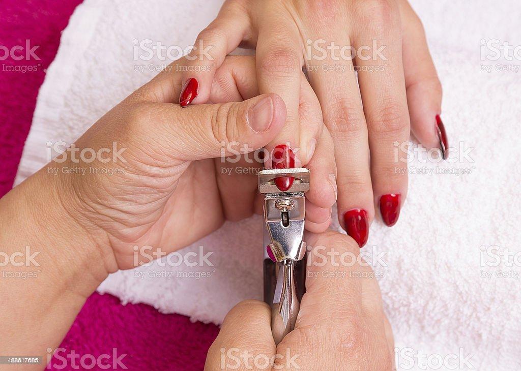Nail file and cut. royalty-free stock photo