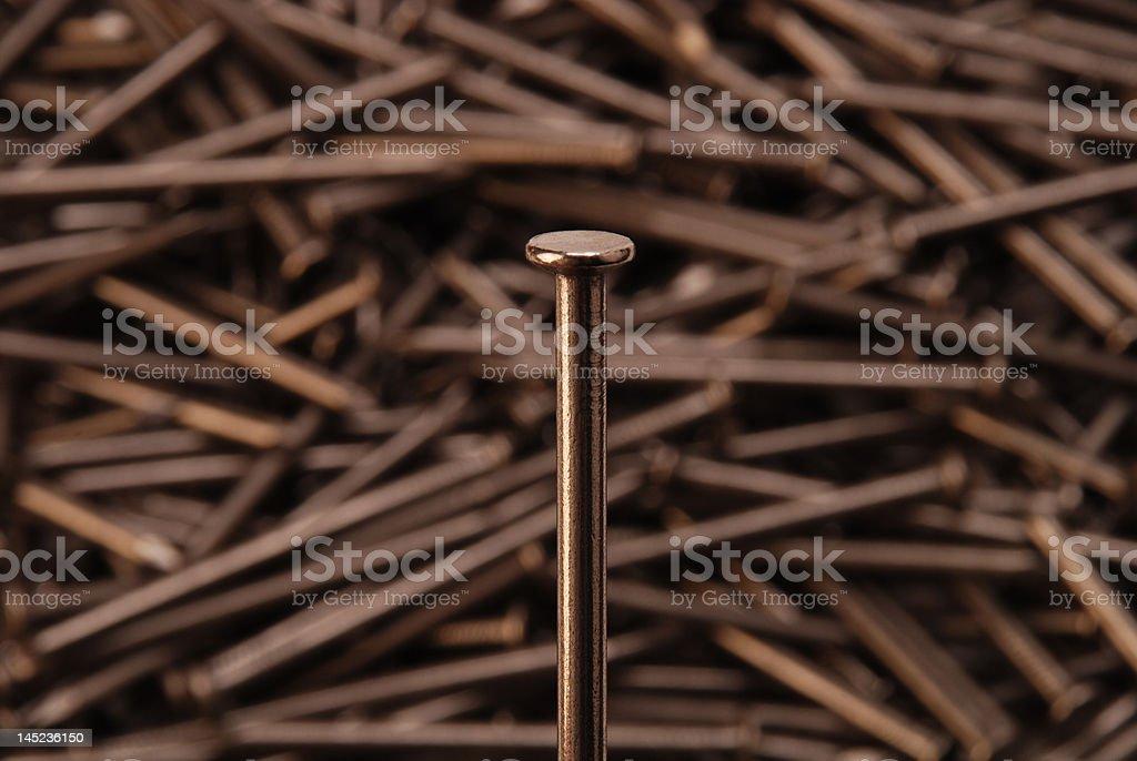 Nail Head Close-up stock photo