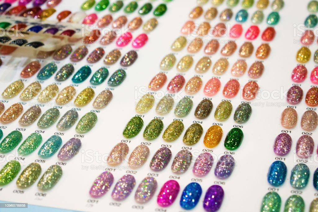 Nail Polish Color Charts. Nail polish swatches in different fashion...