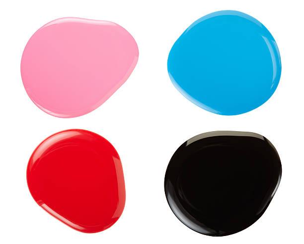 매니큐어 색상화 얼룩제거 스톡 사진