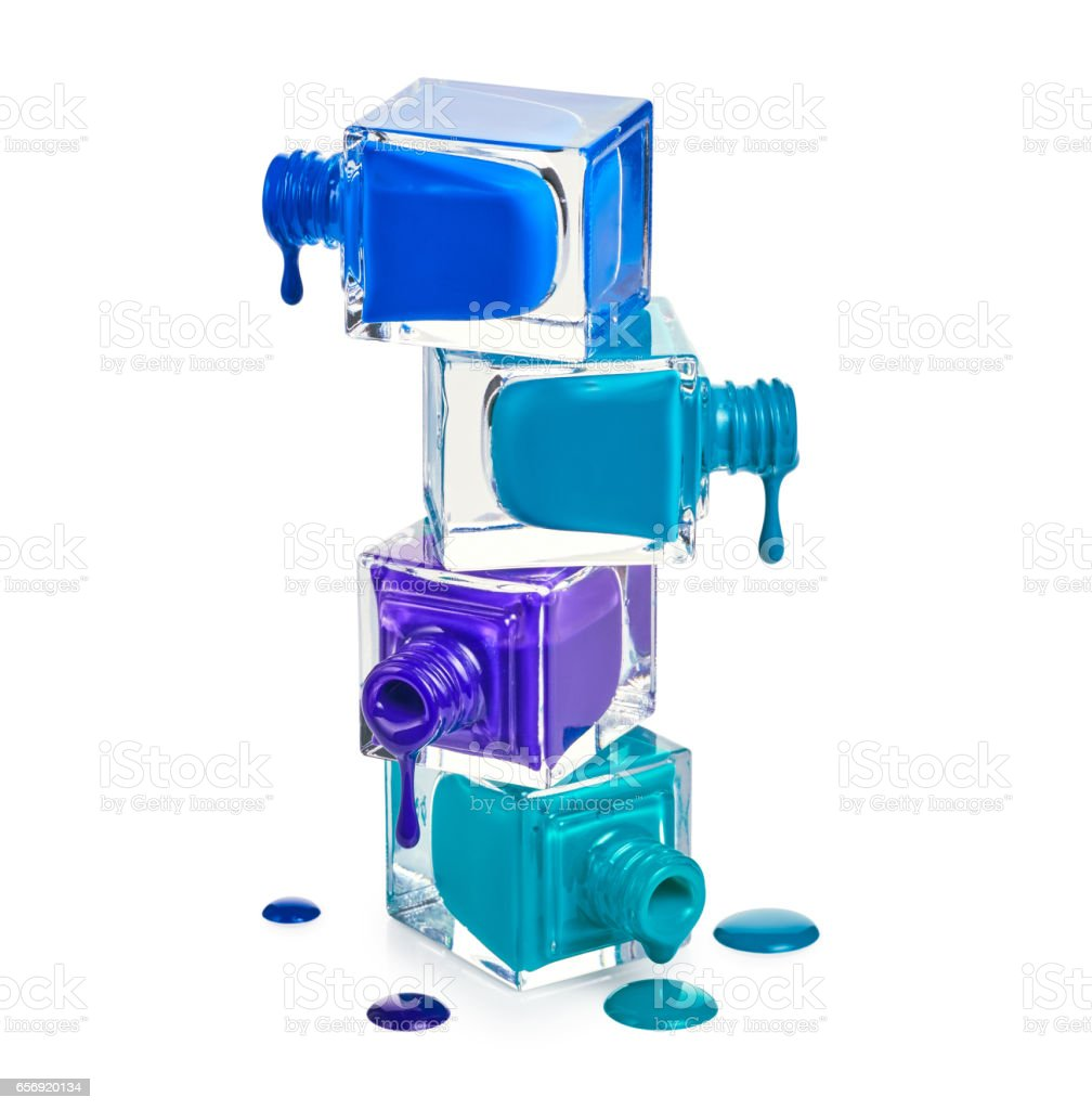 Nail Polish Dripping From Stacked Bottles Stock Photo & More ...