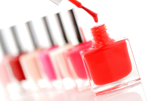 Nail polish drop stock photo