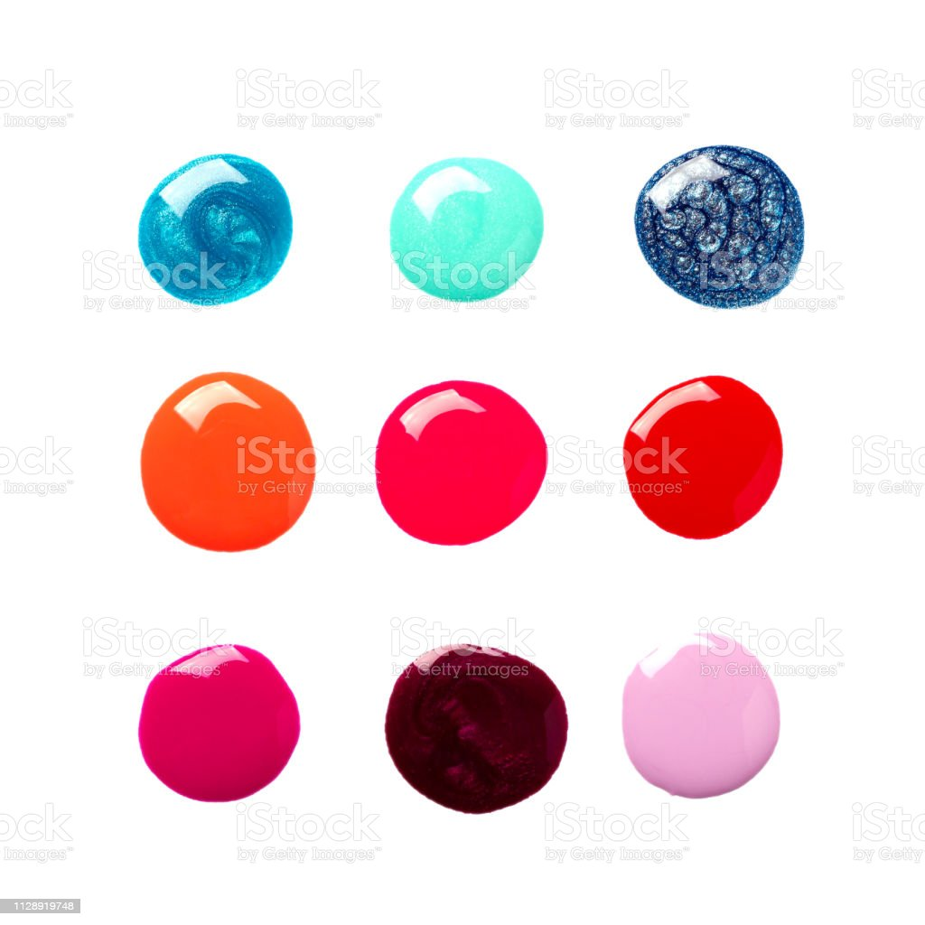 Nail Polish Drops On White Background Isolated Stock Photo Image Now Istock