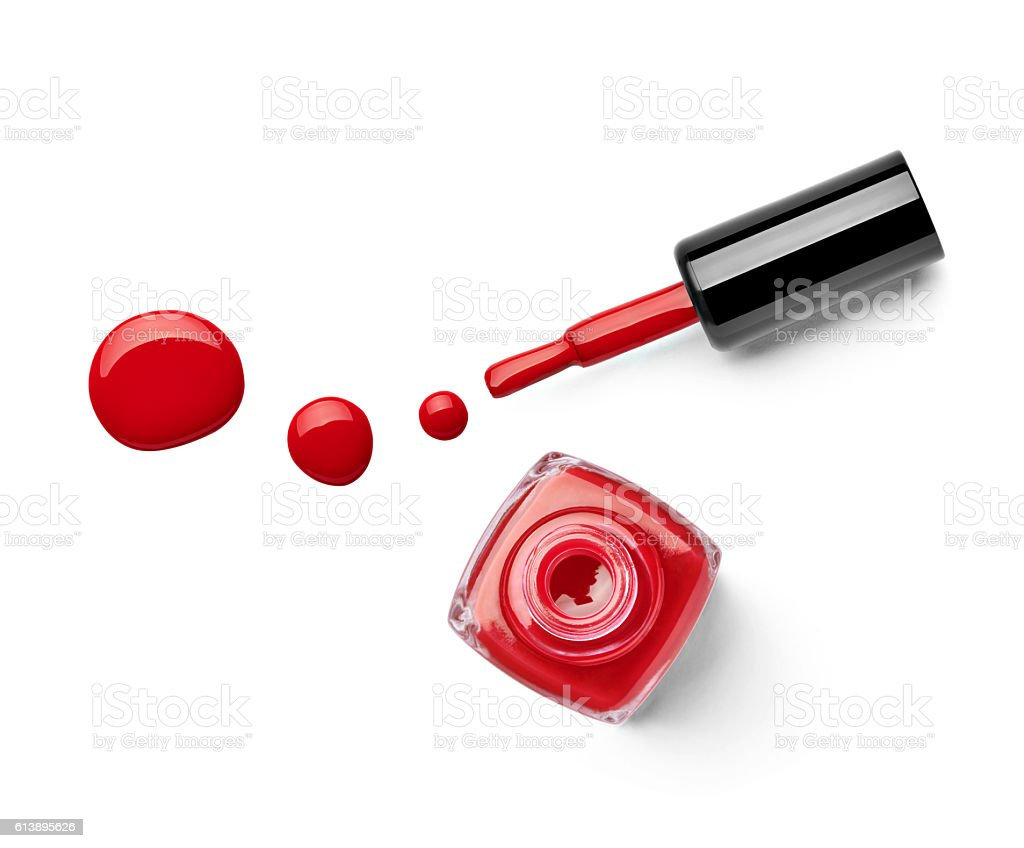 nail polish finger make up beauty cosmetic stock photo