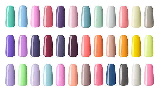 Nail Polish In Different Fashion Color Colorful Nail ...
