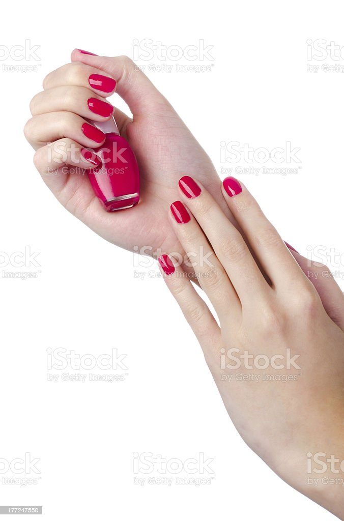 Nail Polish In Woman Hand Stock Photo & More Pictures Of