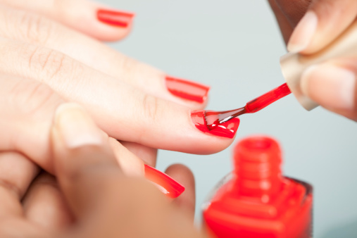 Nail polish. stock photo
