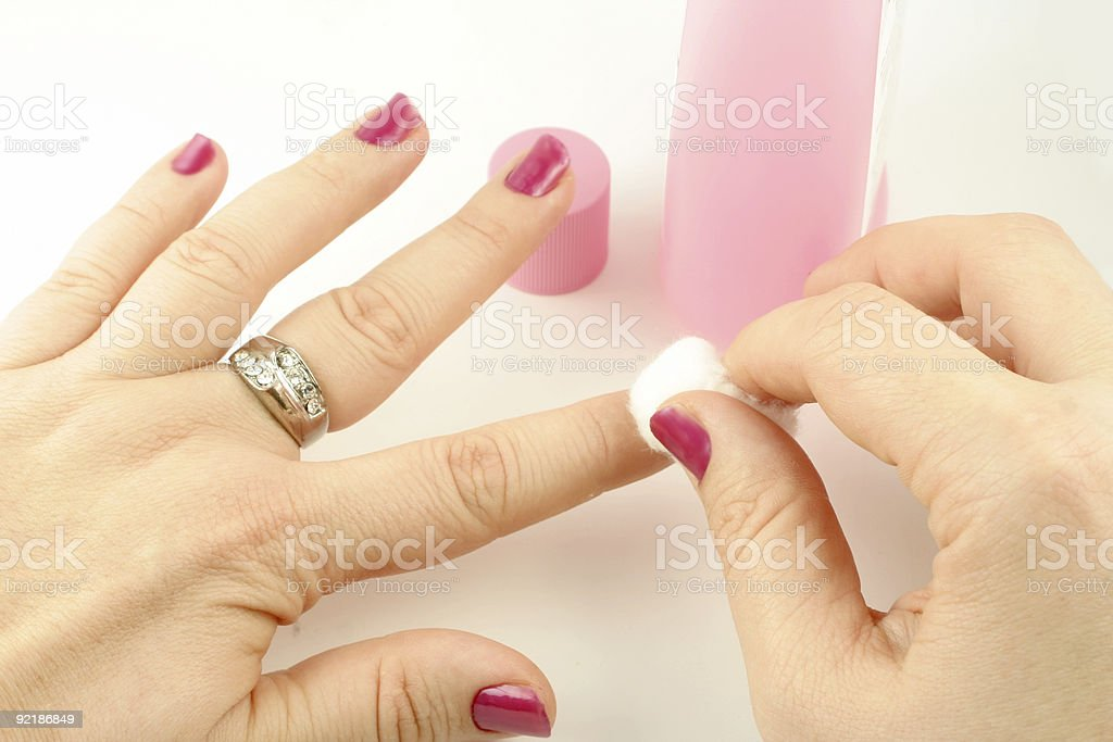 nail polish remover stock photo
