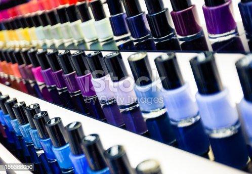Nail Polishes multicolored. Dubai, UAE.