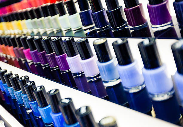Nail polishes stock photo