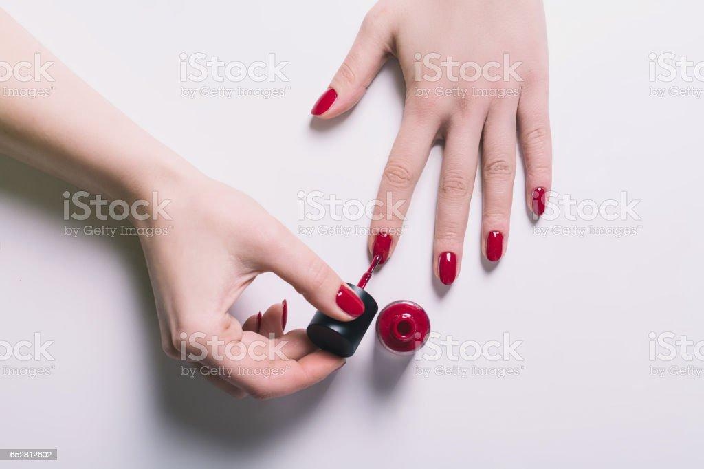 Pulido de las uñas - foto de stock