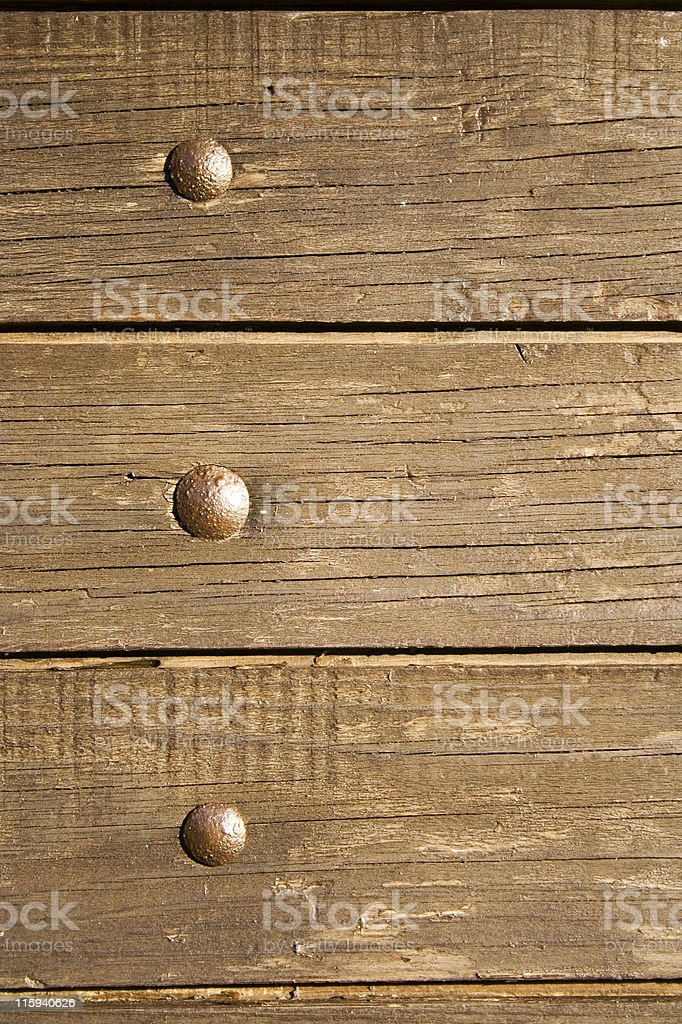 Nailed wood plank royalty-free stock photo
