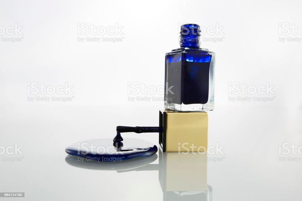 Nailpolish Blue royalty-free stock photo