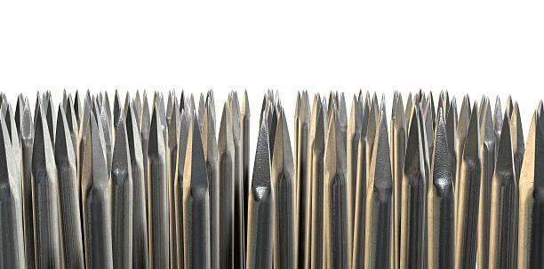 Nails Array Abstract Macro stock photo