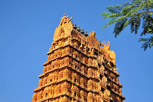 Nainativu Nagapooshani Amman Temple Jaffna, Sri Lanka stock photo