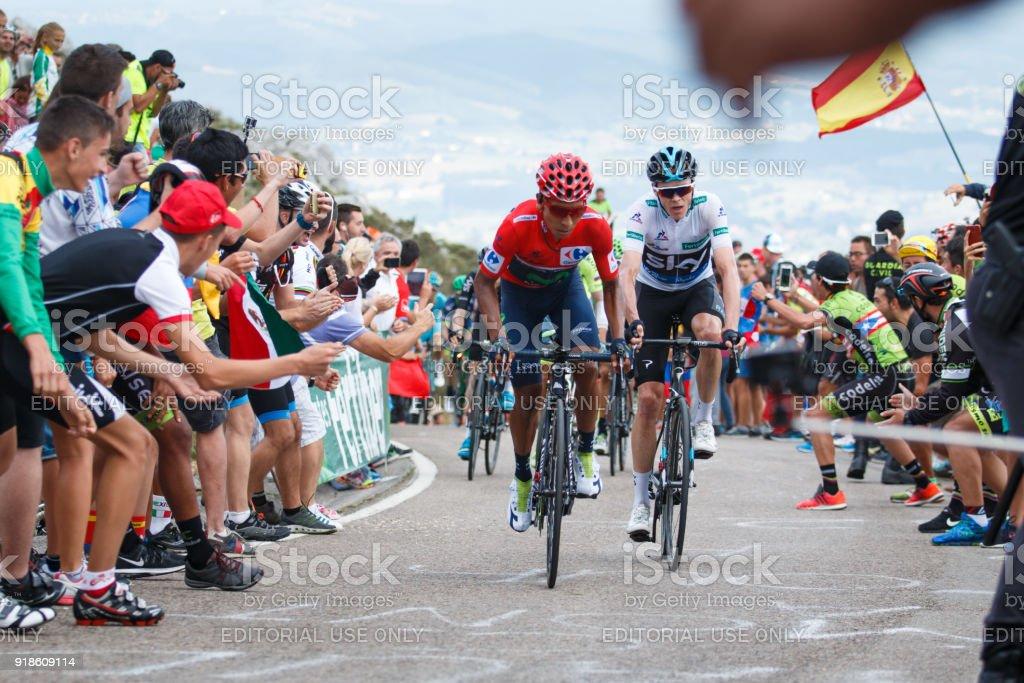 Nairo Quintana and Chris froome Spanish Grand Tour.