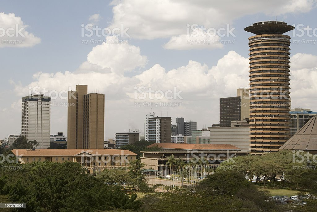 Nairobi city aerial stock photo