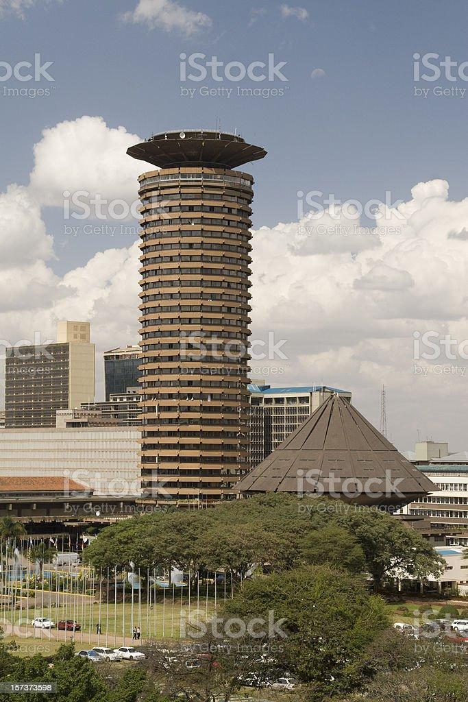 Nairobi city aerial view stock photo