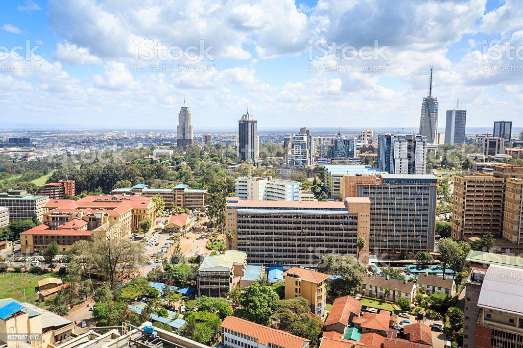 Nairobi cityscape - capital city of Kenya stock photo