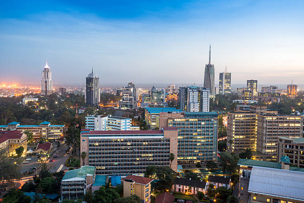Nairobi cityscape - capital city of Kenya Modern Nairobi cityscape - capital city of Kenya, East Africa east africa stock pictures, royalty-free photos & images