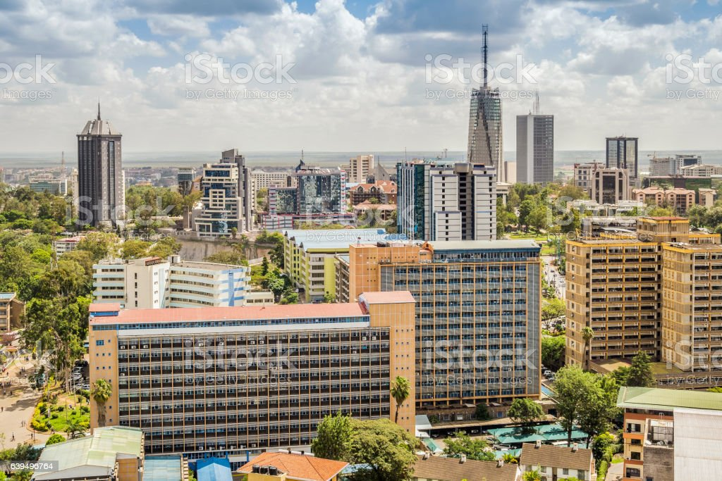 Nairobi downtown - capital city of Kenya stock photo