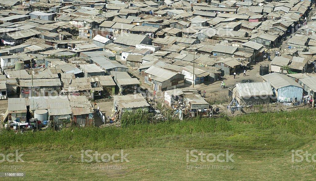 Nairobi From Air royalty-free stock photo