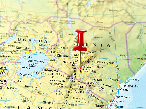 Royalty Free Pin On A Map Of Nairobi Pictures Images And Stock - nairobi map