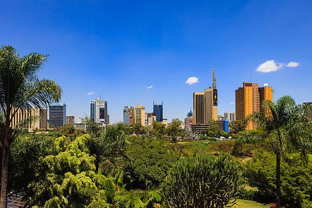 Nairobi, Kenia-Blick auf den Park in der Innenstadt – Foto