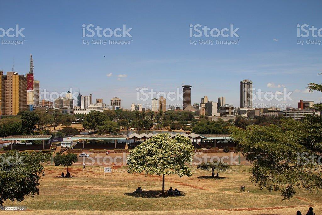 Nairobi skyline, Kenya stock photo