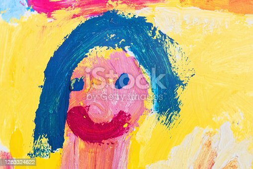 Young child's rendering of a face.