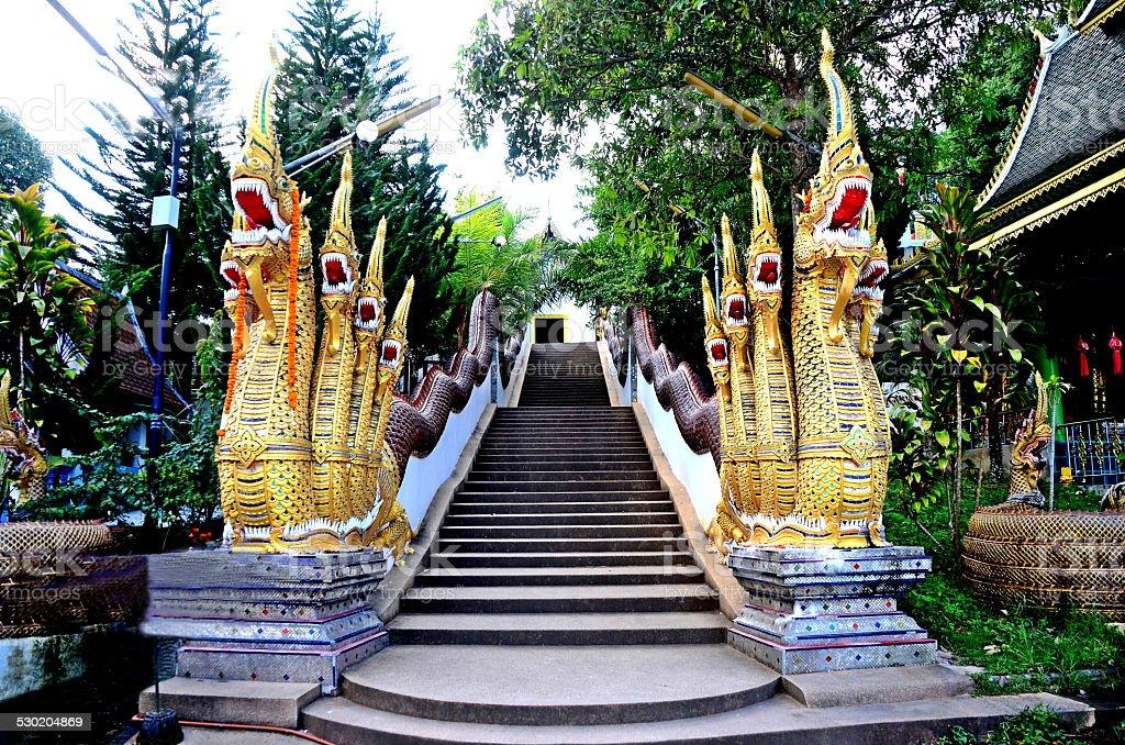 Naka at temple. stock photo