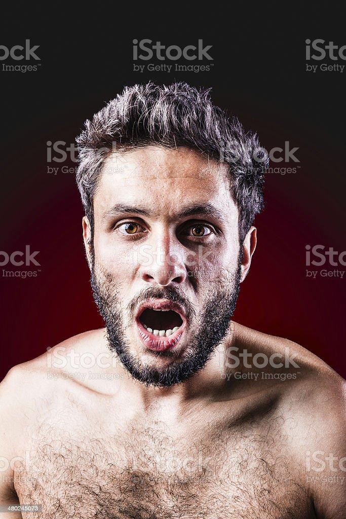 naked and shocked stock photo