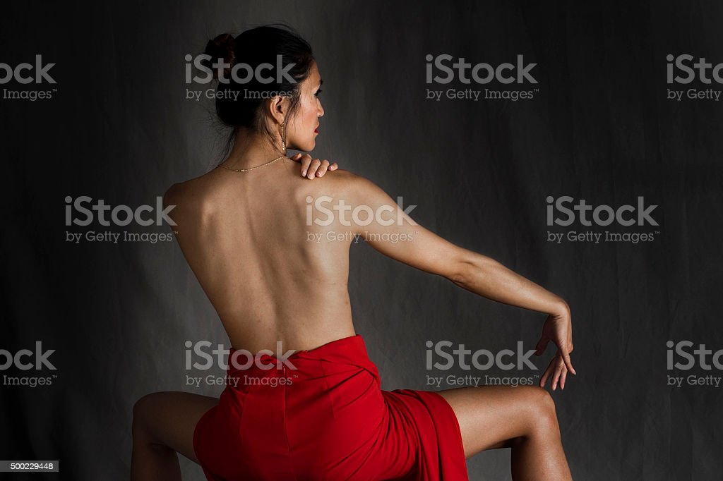 Naked back stock photo