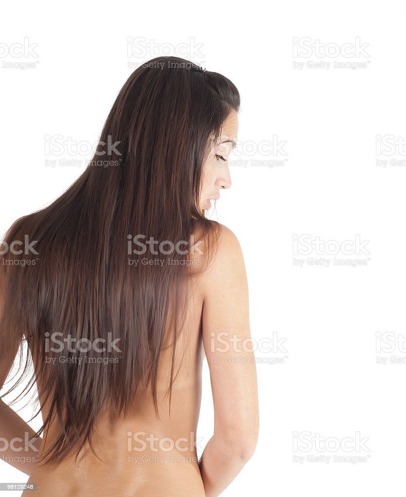 Naked beautuful woman back royalty-free stock photo