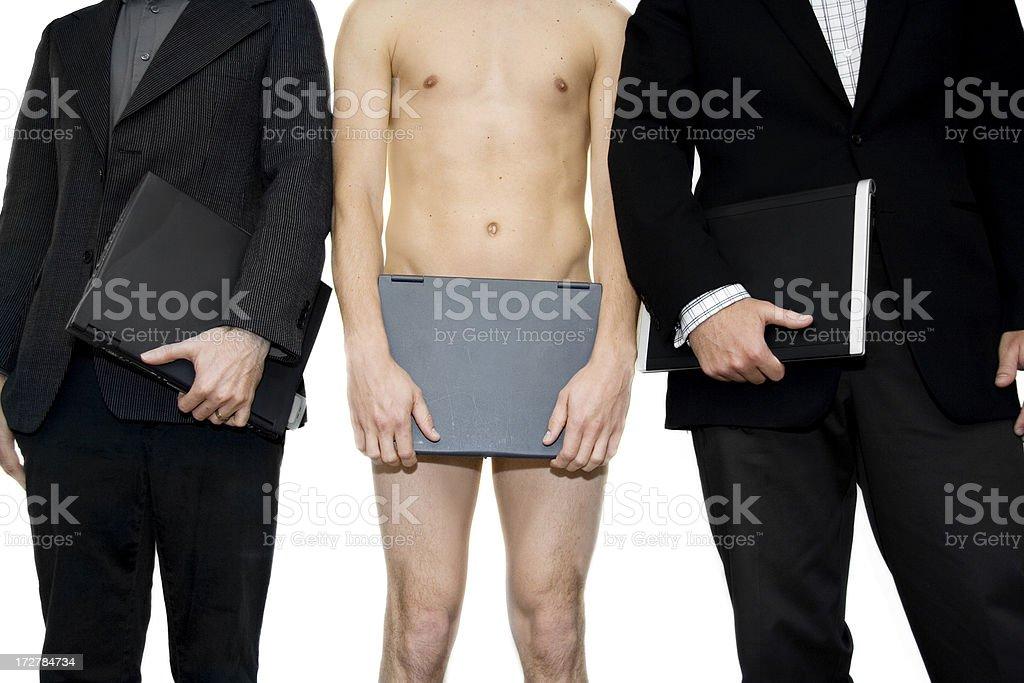 Naked Businessman royalty-free stock photo