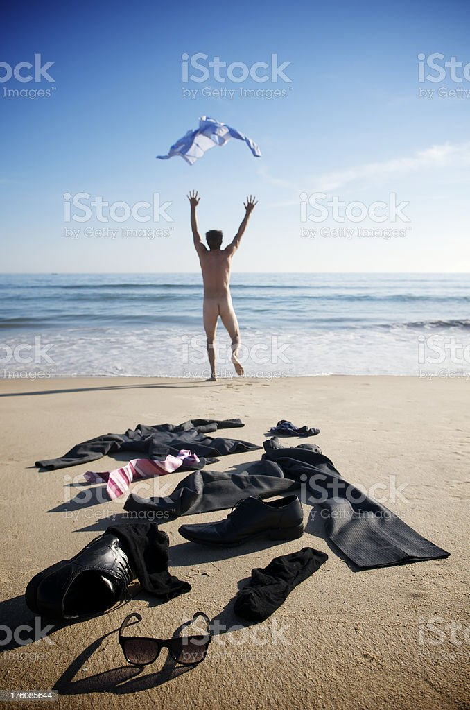 Boy On The Beach With A Naked Torso Stock Photo - Download