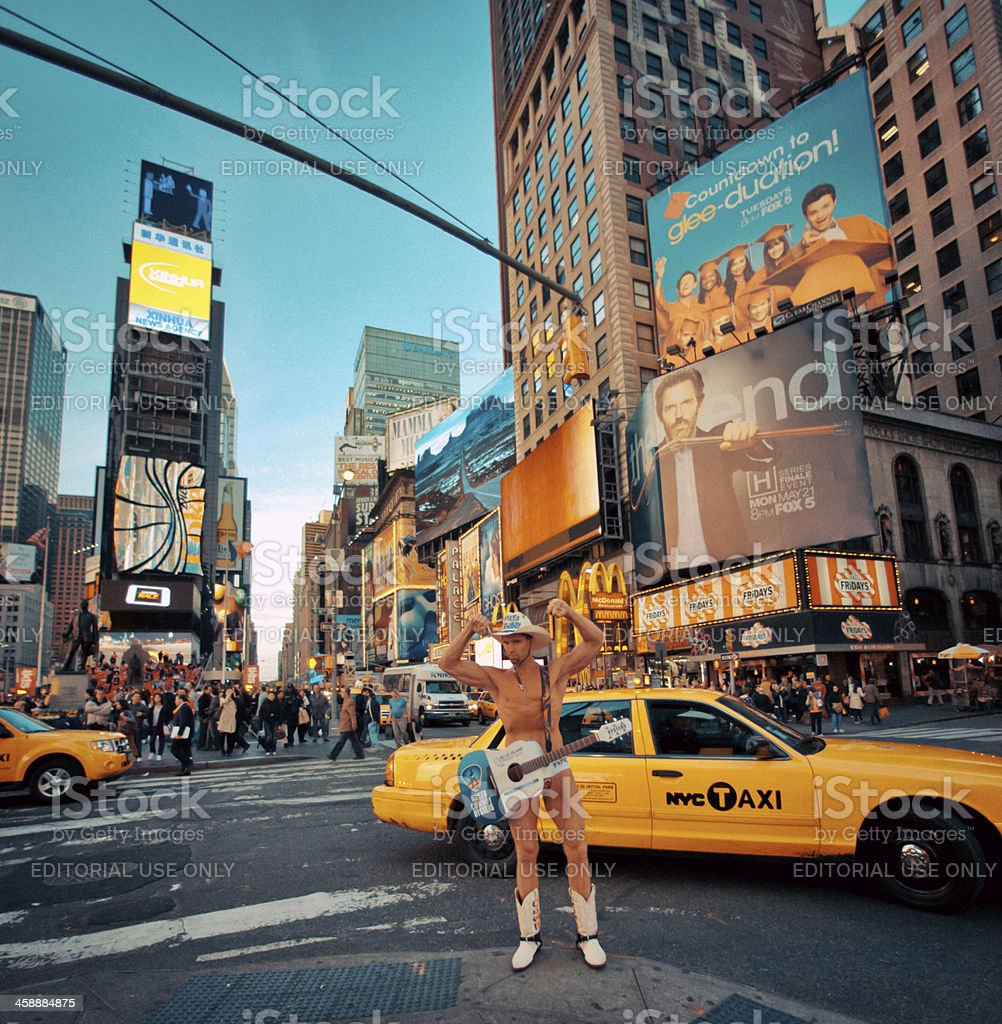 Picture Of The Naked Cowgirl Taken In Times Square In New