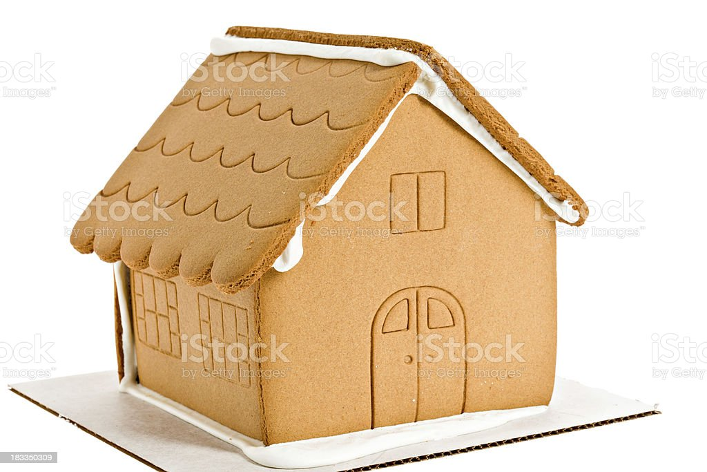 Naked Gingerbread House Isolated stock photo