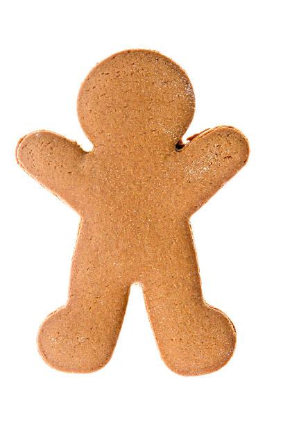 desnudo aislado hombre de jengibre - gingerbread man fotografías e imágenes de stock