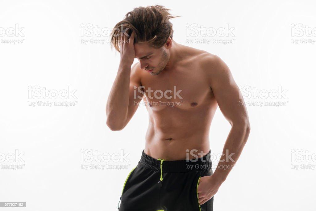 裸のハンサムな男の肖像 ロイヤリティフリーストックフォト